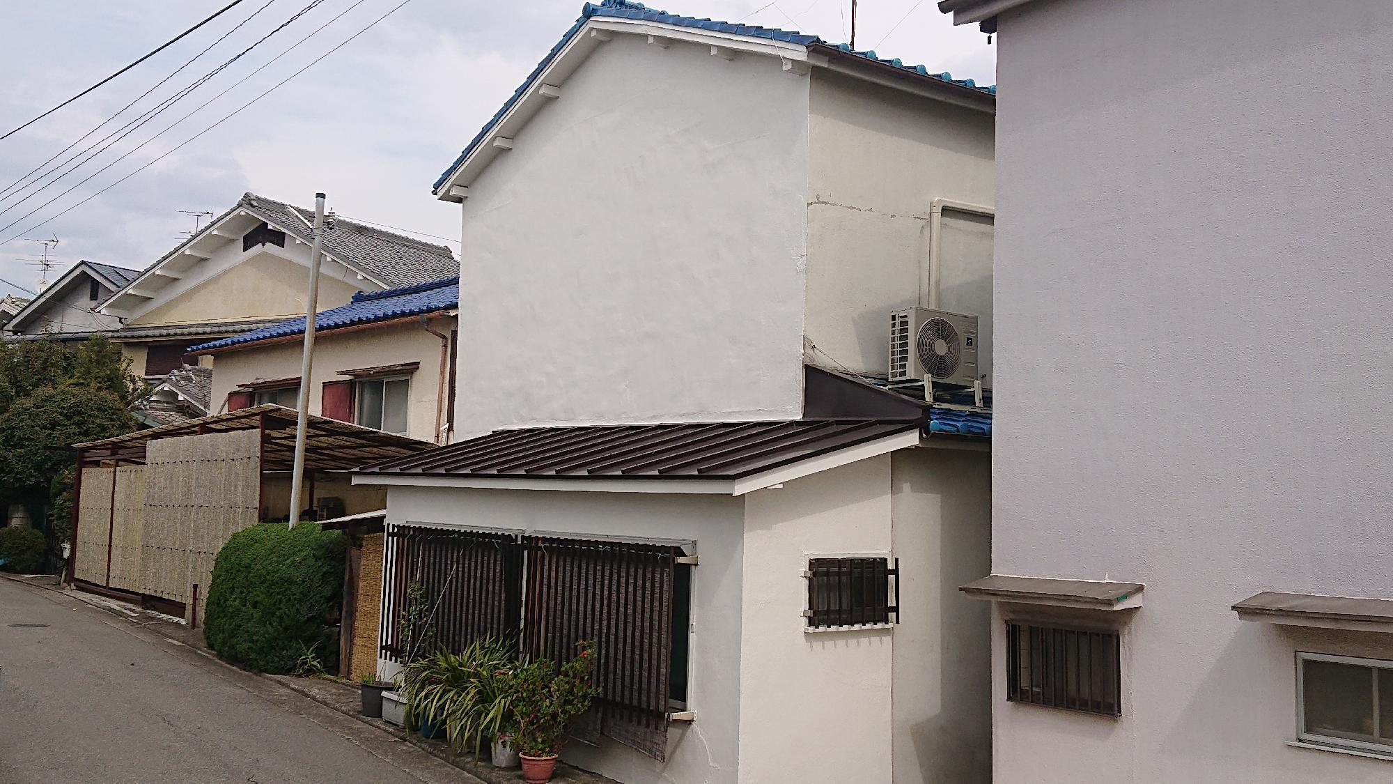 大阪府堺市北区  Y様邸 外壁塗装 左官工事