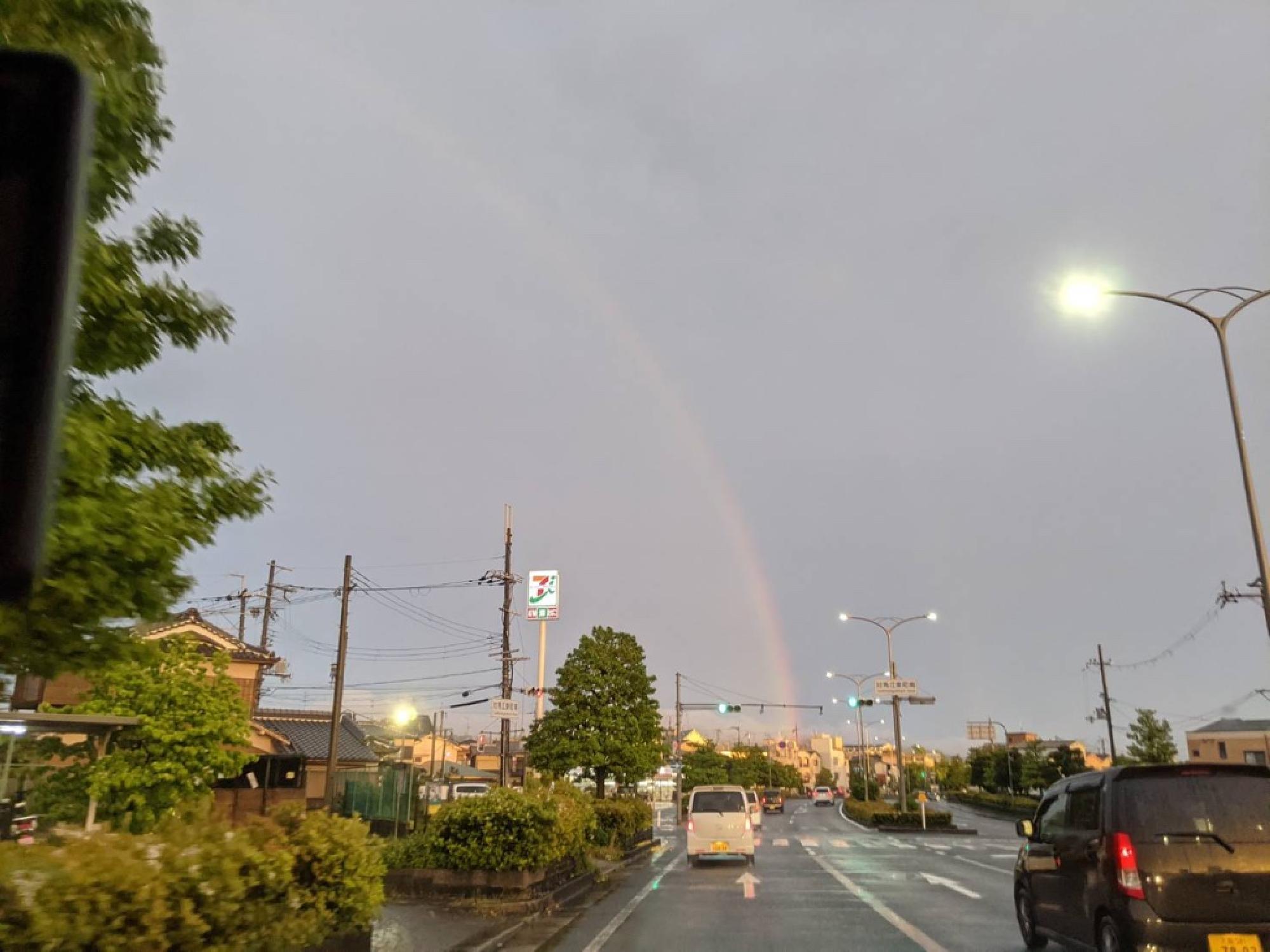 黄昏時の虹_画像_2