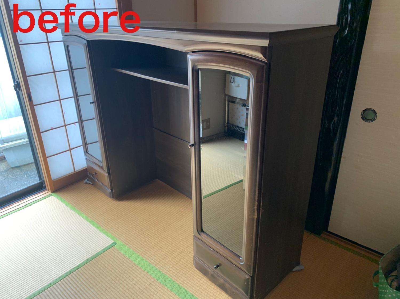 京都市西京区のお客様よりテレビボードの処分のご依頼 画像_2